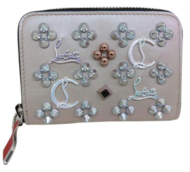 Item - Beige / Black / Red Color Panettone Studs Coin Purse Ladies Wallet