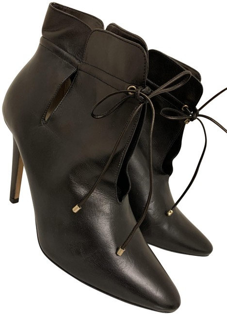 Item - Black Leather Memphis Tie Up Ankle Boots/Booties Size EU 36 (Approx. US 6) Regular (M, B)
