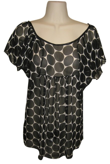 Forever 21 Maternity Top Black and Cream