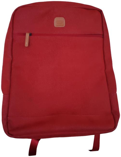 Item - Pebbled Computer Red Leather Backpack