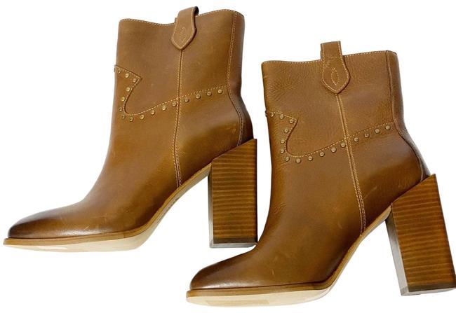 Item - Brown Leather Ashley Stud Square Western Boots/Booties Size US 9.5 Regular (M, B)