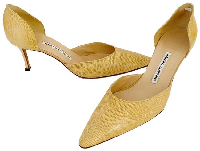 Item - Beige Hint Of Yellow D'orsey Pumps Size EU 40.5 (Approx. US 10.5) Regular (M, B)