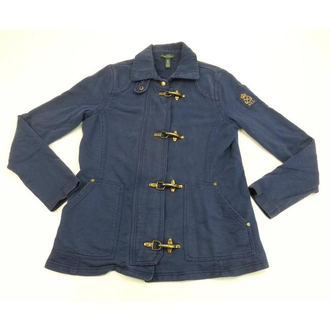 Item - Blue Lrl S/P Brass Toggles Maternity Outerwear Size 4 (S)