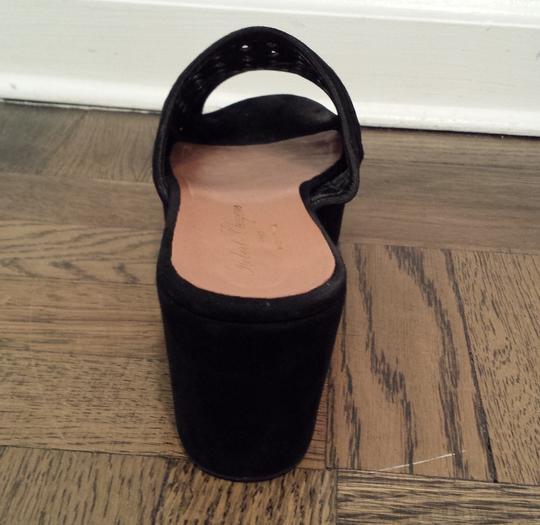 Robert Clergerie Suede Clog Black Platforms