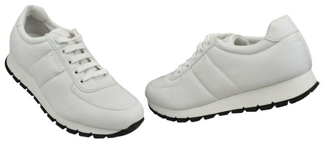 Item - White 3e6386 Quilted Leather Low Top Lace Up Logo Italy Sneakers Size EU 40.5 (Approx. US 10.5) Regular (M, B)