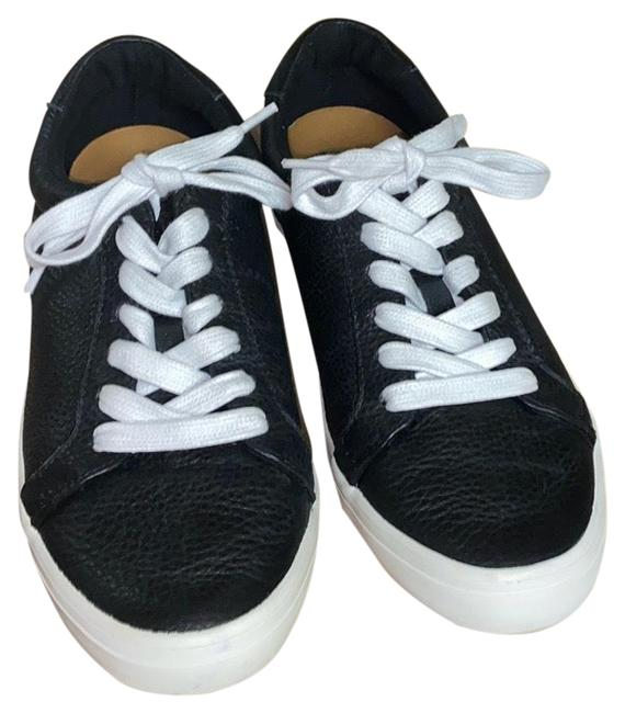 Item - Black Leather Lace Up Sneakers Size US 9 Regular (M, B)