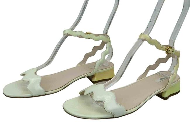 Item - White 1x411a Patent Leather Open Toe Flat Heel Italy Sandals Size EU 40.5 (Approx. US 10.5) Regular (M, B)
