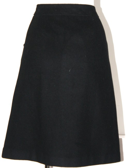 Item - Black Wool and Cashmere Skirt Size 6 (S, 28)