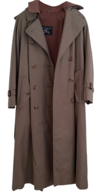 Item - Tan Vintage Lined Trench Coat Jacket Size 8 (M)