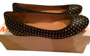Michael Kors Studded Leather Black Flats