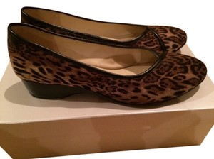 Taryn Rose Suede Leather Leopard Wedges
