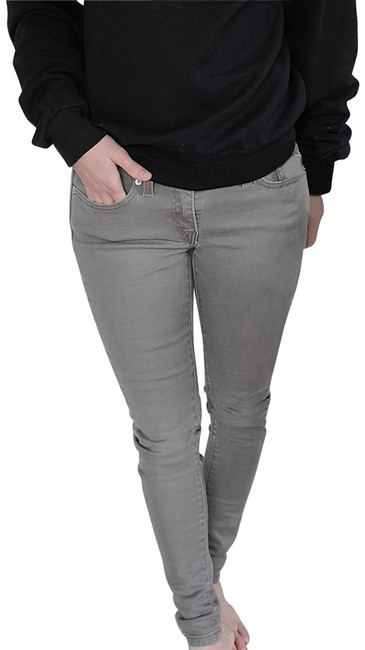 Item - Gray Light Wash Taupe Skinny Fit Jeggings Size 27 (4, S)