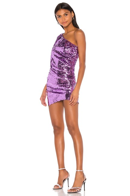 Item - Purple S and Madeline Sequined One Shoulder Short Night Out Dress Size 6 (S)