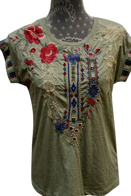 Item - Green Florence Embroidered Tunic Size 2 (XS)