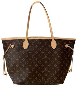 Item - Neverfull Mm with Pivoine Lining Multi ( Monogram) Coated Canvas Tote