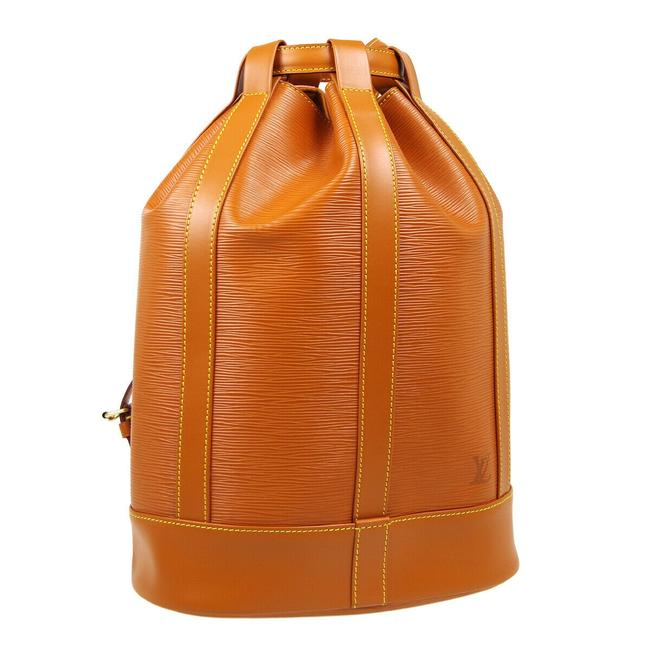 Louis Vuitton Randonnee Pm Brown Epi Leather Backpack Louis Vuitton Randonnee Pm Brown Epi Leather Backpack Image 1