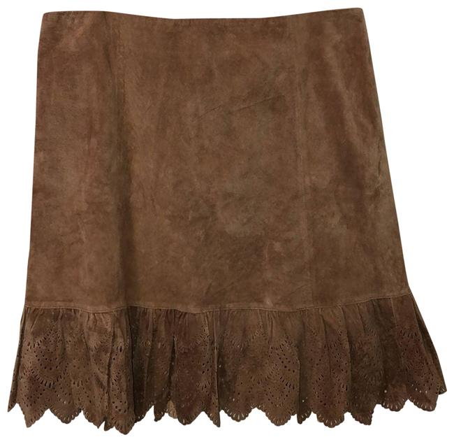 Anthropologie Tan Suede Leather Lined New Skirt Size 12 (L, 32, 33) Anthropologie Tan Suede Leather Lined New Skirt Size 12 (L, 32, 33) Image 1