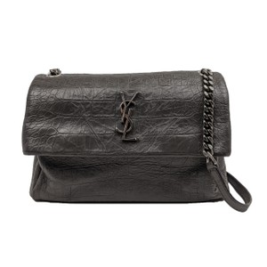Item - Monogram West Hollywood Crocodile Embossed Medium Grey Leather Shoulder Bag