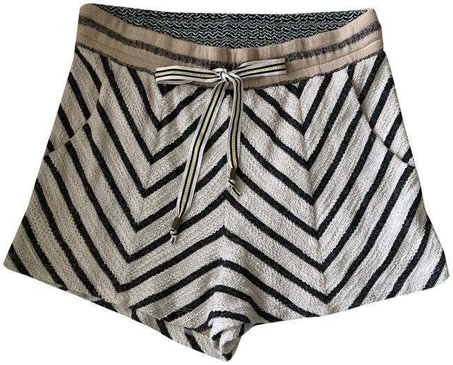 Item - Black and Off-white Saturday Sunday Zigzag Design Shorts Size 4 (S, 27)