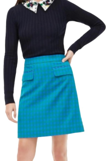 Item - Blue Green Flap Pocket Gingham Skirt Size 6 (S, 28)