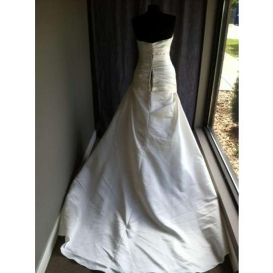 Pronovias Ivory Genova Modern Wedding Dress Size 12 (L)