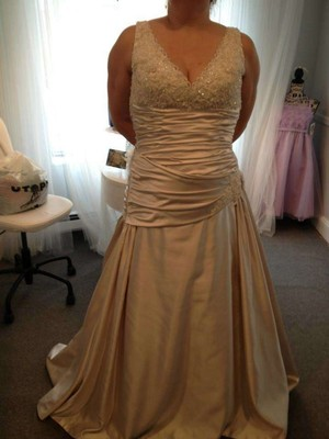 Maggie Sottero S5245 June Satin Low Back Beaded Wedding Dress
