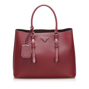 Item - Double Lux Saffiano Red Leather Satchel