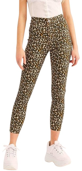 Item - Brown We The High Waist Leopard Print Nwot Skinny Jeans Size 24 (0, XS)