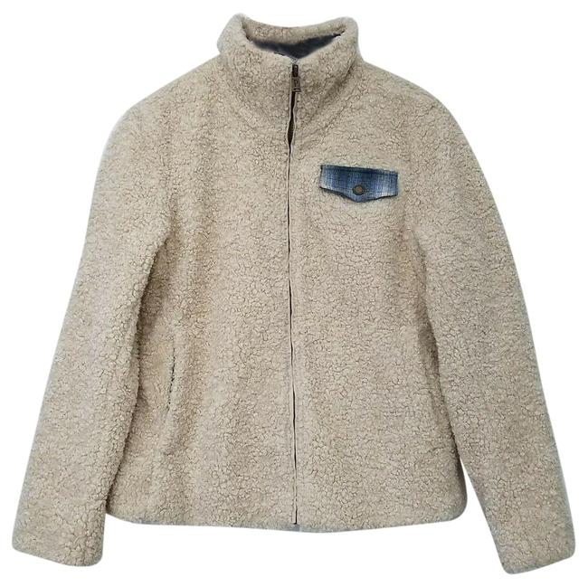 Item - Cream Womens Faux Sheep Wool Beige Small Jacket Size 6 (S)