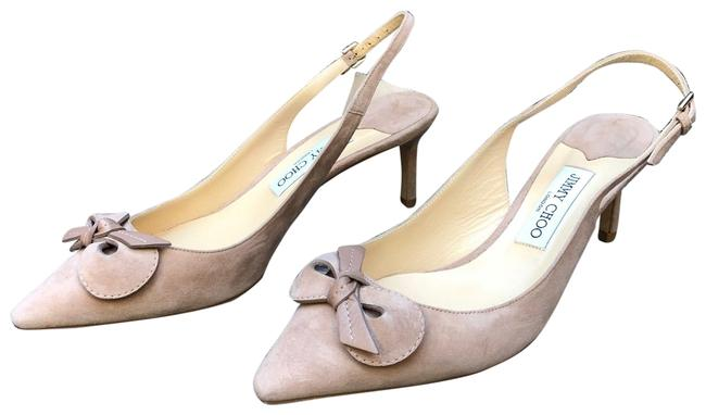 Item - Nude New Blare Bow Suede Leather Slingback Pumps Size EU 40 (Approx. US 10) Regular (M, B)