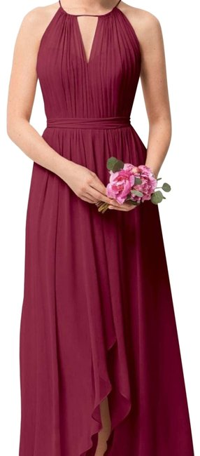Item - Pink 209 Bridesmaid with High-low Marsala Formal Dress Size 10 (M)