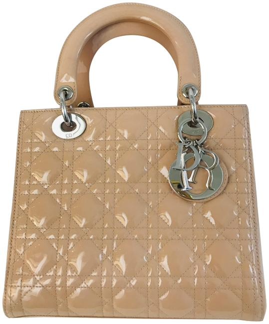 Item - Lady Beige Patent Leather Tote