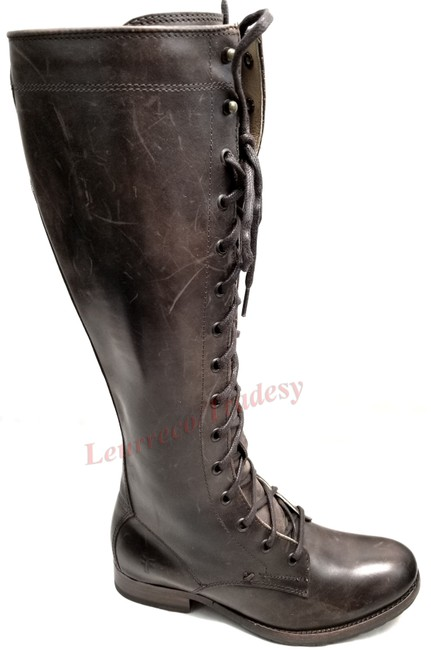Item - Brown Melissa Tall Lace Style# 77015 Boots/Booties Size US 6 Regular (M, B)
