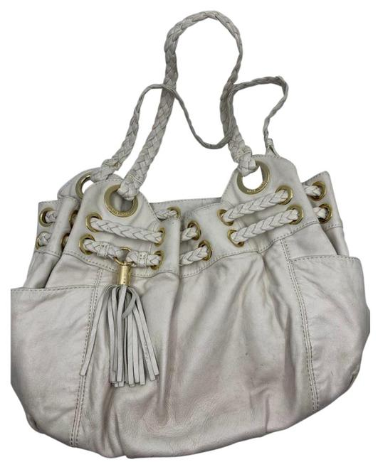 Item - Lamb Large/Medium Cream Leather Shoulder Bag