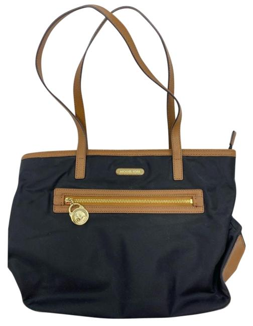 Item - Bag Shoulder Medium To Large Size Black Tan Nylon Tote