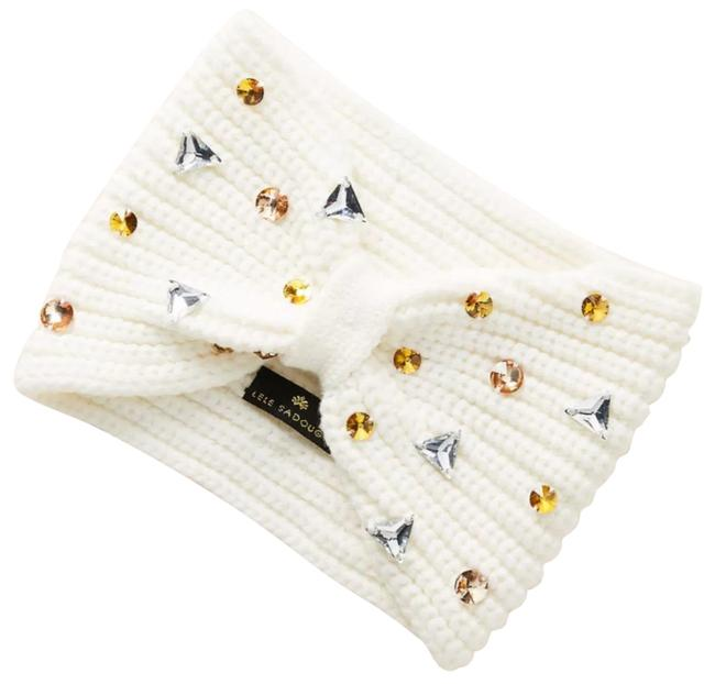 Item - Ivory Jules Embellished Ear Warmer Hat