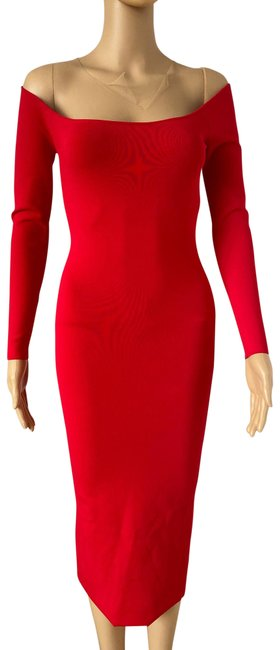 Item - Red Mi Place 776 Long Cocktail Dress Size 4 (S)