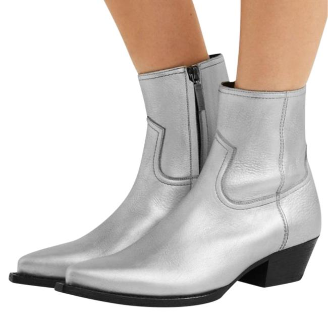 Item - Silver Black New Lukas Leather Ankle Boots/Booties Size EU 38.5 (Approx. US 8.5) Regular (M, B)