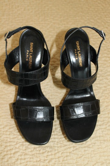Saint Laurent Leather Black Sandals
