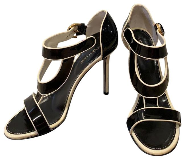 Item - Black and White A52120 Sandals Size US 7.5 Regular (M, B)