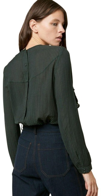 Item - Green M Sycamore Cassandra Sheer Long Sleeve New Blouse Size 8 (M)