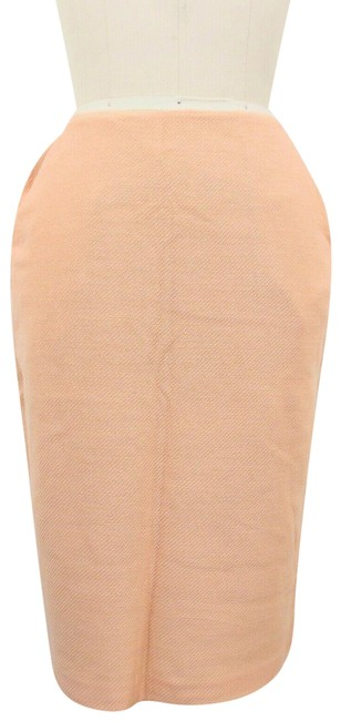 Item - Pink - Textured Fitted Pencil Zip Pockets Skirt Size 2 (XS, 26)