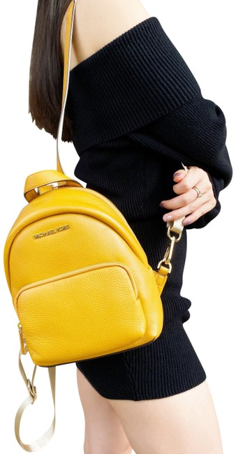 Item - Small Erin Convertible Fannyback Marigold Yellow Pebbled Leather Backpack