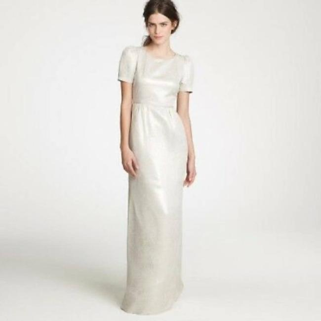 Item - White Collection Dinah Gown In Natural Casual Wedding Dress Size 4 (S)