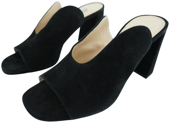 Item - Black Deep-u Suede Heel Open Toe Sandals Mules/Slides Size EU 37.5 (Approx. US 7.5) Regular (M, B)