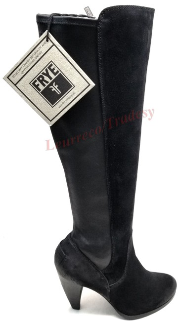Item - Black Leather and Suede Mikaela Stretch Tall Boots/Booties Size US 9 Regular (M, B)
