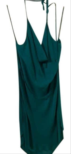 Item - Turquoise Halter Top Midi Mid-length Night Out Dress Size 12 (L)