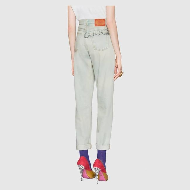 Gucci Blue Distressed 80s Stone Washed Denim Pants Amour Straight Leg Jeans Size 26 (2, XS) Gucci Blue Distressed 80s Stone Washed Denim Pants Amour Straight Leg Jeans Size 26 (2, XS) Image 2