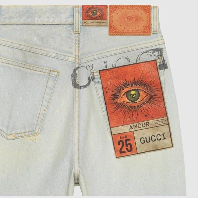 Gucci Blue Distressed 80s Stone Washed Denim Pants Amour Straight Leg Jeans Size 26 (2, XS) Gucci Blue Distressed 80s Stone Washed Denim Pants Amour Straight Leg Jeans Size 26 (2, XS) Image 3