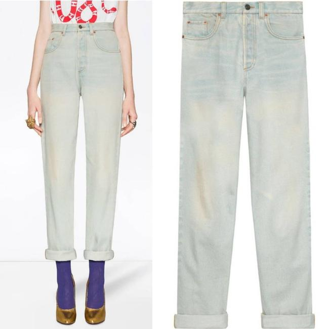 Gucci Blue Distressed 80s Stone Washed Denim Pants Amour Straight Leg Jeans Size 26 (2, XS) Gucci Blue Distressed 80s Stone Washed Denim Pants Amour Straight Leg Jeans Size 26 (2, XS) Image 6
